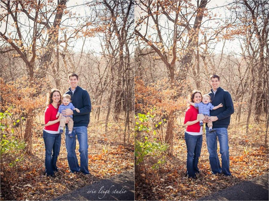 fall family photos at shawnee mission park